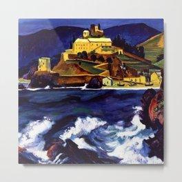 Cinque Terre, Italy Convent von Monterosso al Mare by Hermann Max Pechstein Metal Print