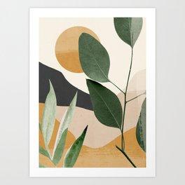 Abstract Art Tropical Leaves 8 Art Print