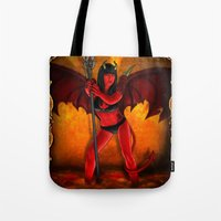 devil Tote Bags featuring Devil by Joey Gates