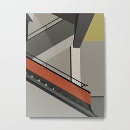Stairway in bauhaus Dessau Metal Print