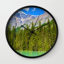 Mt. Robson and the Robson River in British Columbia, Canada Wall Clock