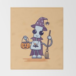Ned's Halloween Witch Throw Blanket