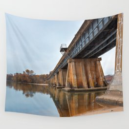 Rustic Leesylvania Bridge Wall Tapestry