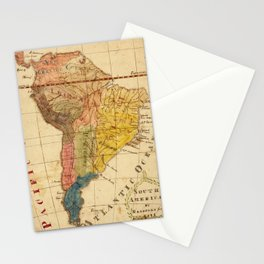 Vintage Map of South America (1816) Stationery Cards