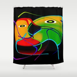 Love interaction Shower Curtain