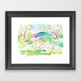 Tzfat Garden Framed Art Print