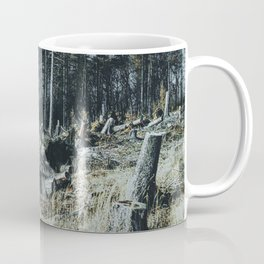 Fallen And Broken Trees After Storm Victoria February 2020 Möhne Forest 9 dark Coffee Mug