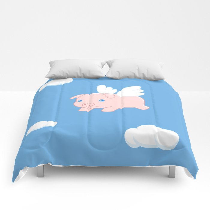 Flying Pig Comforters