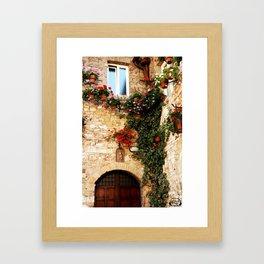 Floral Assissi Framed Art Print
