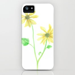Simple Sunflower iPhone Case