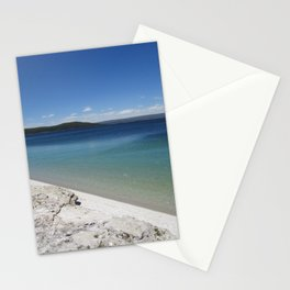 Beach at Yellowstone National Park Blue Sky Stationery Cards