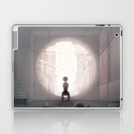 leveL - A White Sphere of Air Laptop & iPad Skin