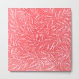 Pink Foliage II Metal Print