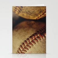baseball Stationery Cards featuring Baseball by Chee Sim