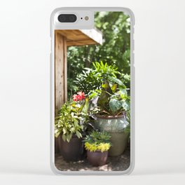 Container Gardening Done Right Clear iPhone Case