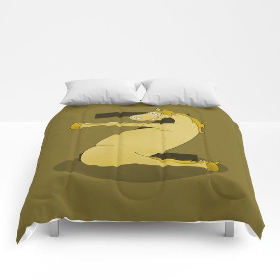 Monogram Z Pony Comforters
