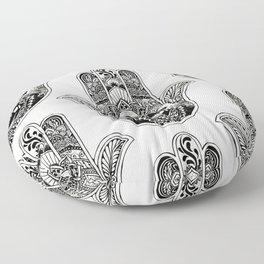 Hamsa Hand French Bulldog Floor Pillow