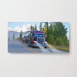 Trans Canada Trucker Metal Print
