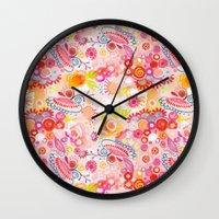Vibrant summer Wall Clock
