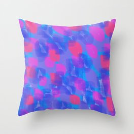 colorful brushstrokes Throw Pillow