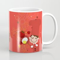 cooking Mugs featuring Cooking Papa by inkdesigner