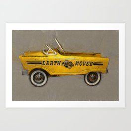 Earth Mover Pedal Car Art Print