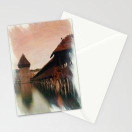 Lucerne Chapel Bridge 2 Stationery Cards