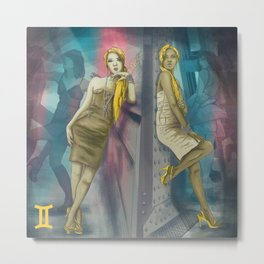 Gemini Sign Metal Print