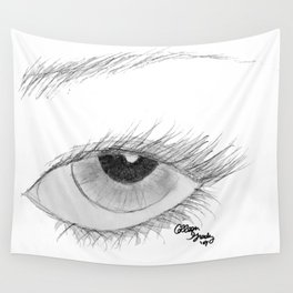 A Vision in Black & White Wall Tapestry