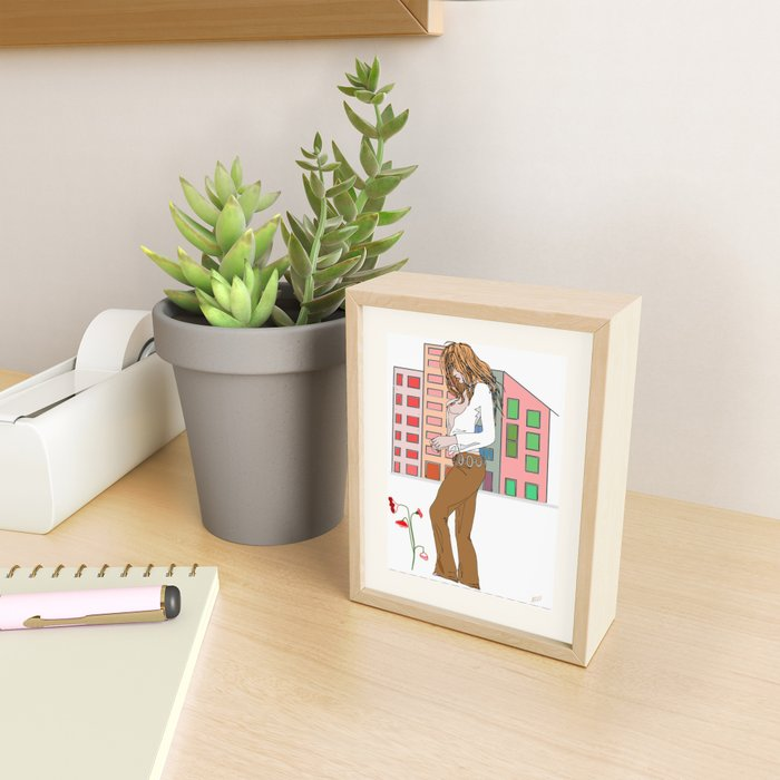 Peace & Love Framed Mini Art Print