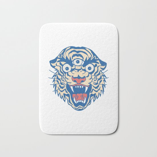 Third Eye Tiger Flash Bath Mat