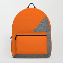 Cement vs Orange Diagonal Color-block Backpack