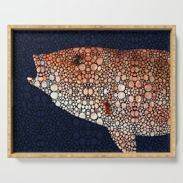 Red Grouper Fish - Florida Art By Sharon Cummings Serving Tray