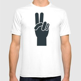 Peace Sign, Do Good B&W T-shirt