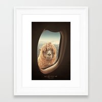 lama Framed Art Prints featuring QUÈ PASA? by Monika Strigel