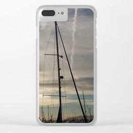 Bird on a mast Clear iPhone Case