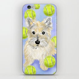 Miss Caroline the Cairn Terrier is Obsessed About Fetching Tennis Balls iPhone Skin