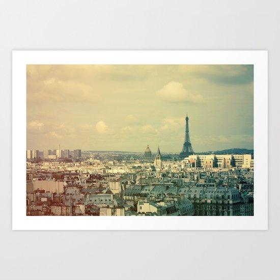 Pale Paris Art Print