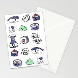 Galaxy Sushi Stationery Cards