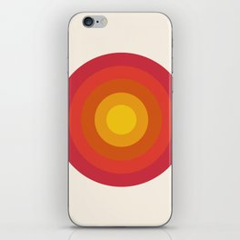 Right On - retro throwback 70s 1970s bullseye beach 70's vibes minimal art by Seventy Eight iPhone Skin