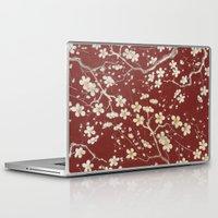 sakura Laptop & iPad Skins featuring Sakura by Paula Belle Flores