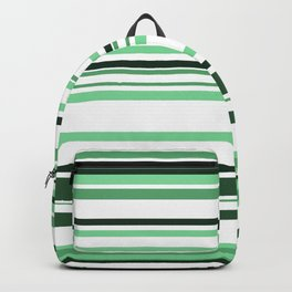 White & green Linies Backpack
