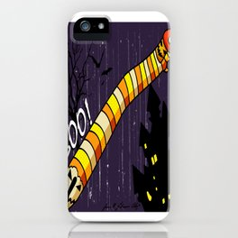 Candy Worms and Jack-o-lanterns iPhone Case