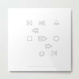 Interface Controls - Handdrawn Metal Print