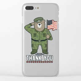 Veteran's Day Clear iPhone Case
