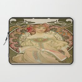 Vintage poster - Woman with flowers Laptop Sleeve