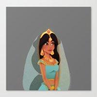 jasmine Canvas Prints featuring Jasmine by Sophie Eves