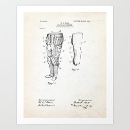 Football Pants Patent Illustration Art Print