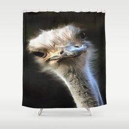 Ostrich Head Shower Curtain