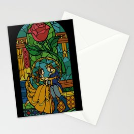 Beauty and The Beast - Stained Glass Stationery Cards